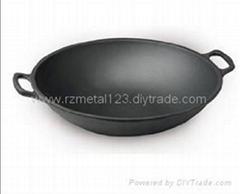 cast iron chinese wok