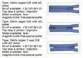 Plastic zipper / Delrin zipper