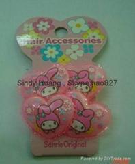 Pink children hairpin