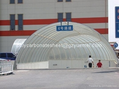 polycarbonate sheet roof