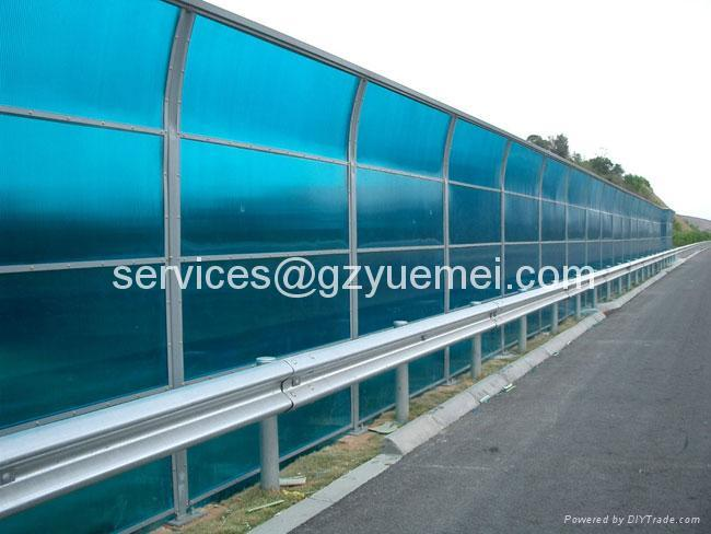 polycarbonate hollow sheet sound barrier 1