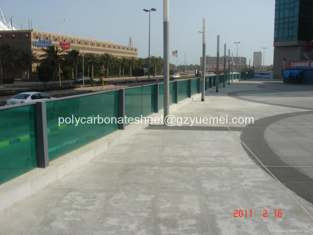 polycarbonate hollow sheet sound barrier 3