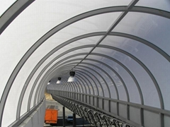 polycarbonate sheet passage