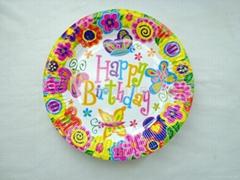 生日纸盘子