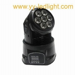 Mini LED Moving Head Wash Light 7x10W RGBW 4in1