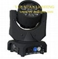 B-EYE LED Mini Moving head 7pcs x 12W Cree White LEDs with color wheel