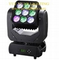 3*3 Matrix LED Moving head Panel 9X12W RGBW 4IN1 Cree LEDs