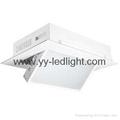 Adjustable color temperature electric flip led film panel light
