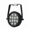 Outdoor LED Slim Par Light 12x15W RGBWAUV 6-in-1