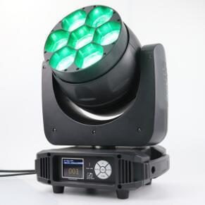 LED Moving Head Beam Zoom Wash Pixel Bee Eye 7x40W RGBW 4-IN-1 Osram LEDs 1