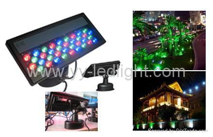 DMX LED Wall Washer RGB with high power 1W Edison lamp 1