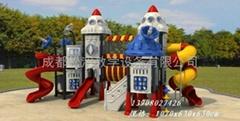 高端儿童戶外梭梭板,四川幼儿園高端大型滑滑梯組合玩具