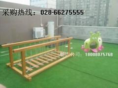 幼儿园木制玩具滑梯,四川儿童实木梭梭梯,成都幼儿木质滑滑梯
