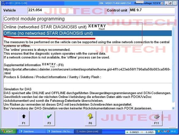 Offline SCN Coding Opening Service for Benz Star Software