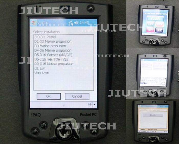VOLVO PENTA VODIA DIAGNOSTIC Kit with PDA volvo marine industrial engine tool  2
