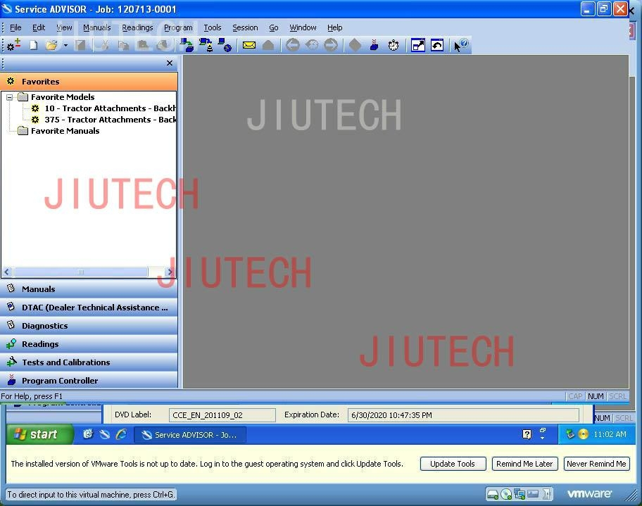 John Deere Service Advisor 4.2 CF (Construction and Forestry) software