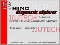 Hino Diagnostic Explorer V3.16 Software for Hino Diagnostic Tool