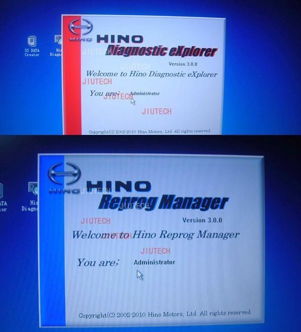 HINO Diagnostic EXplorer/Hino-Bowie Truck Excavator Diagnostic with d630 laptop