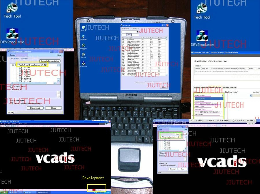 Vo  o vcads Super Programming Software + dev2tool PTT Development+ d630 laptop