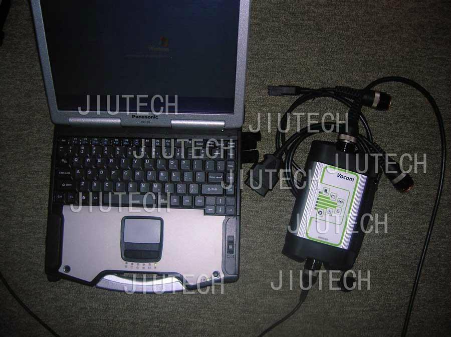 CF29 laptop installed Volvo vocom 88890300 Truck Diagnostic Software PTT  VCADS