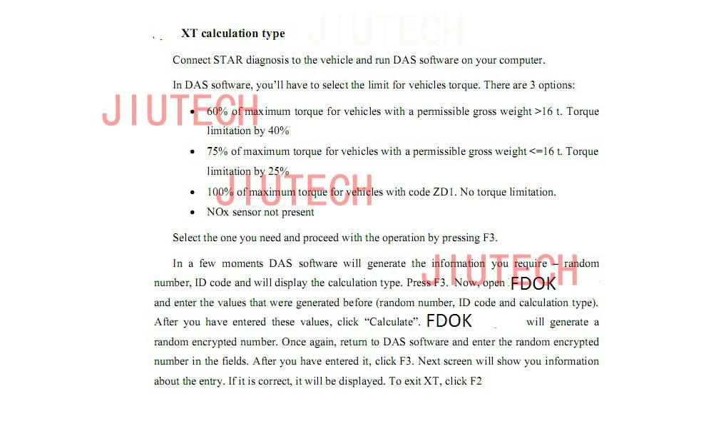Mercedes-Benz DAS FDOK VeDoc Encrypted Random Number Calculator for NOx Torque Limitation removal
