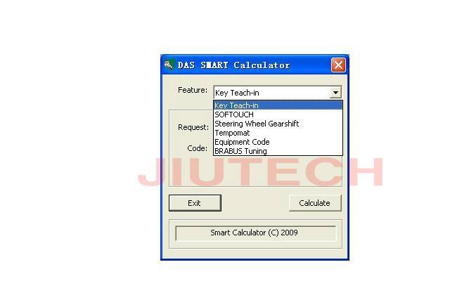 DAS Smart Tan Code Calculator Mercedes Star Diagnosis Tool