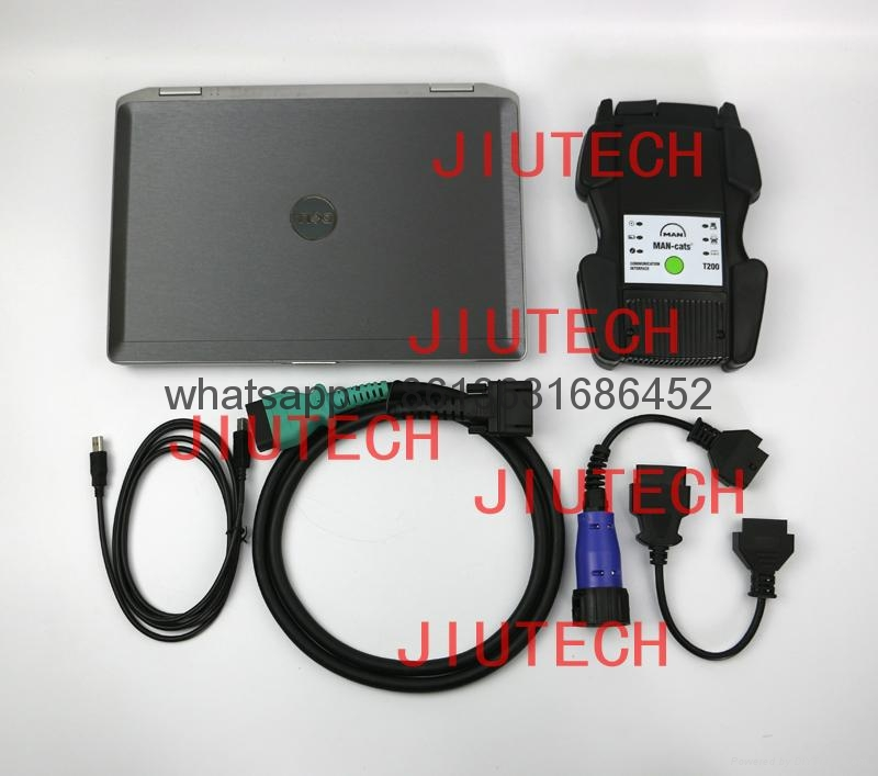 Man cats t200 , man t200 man heavy duty truck diagnostic scanner with laptop