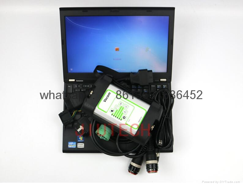 Volov VOCOM Heavy Duty Truck Diagnostic Scanner X200 Laptop+PTT 2.04.75 Dev2tool