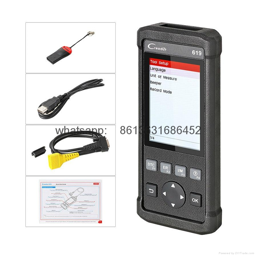 Newest Launch Creader 619 Code Reader Full OBD2/EOBD Functions Support Data Record and Replay Diagnostic Scanner
