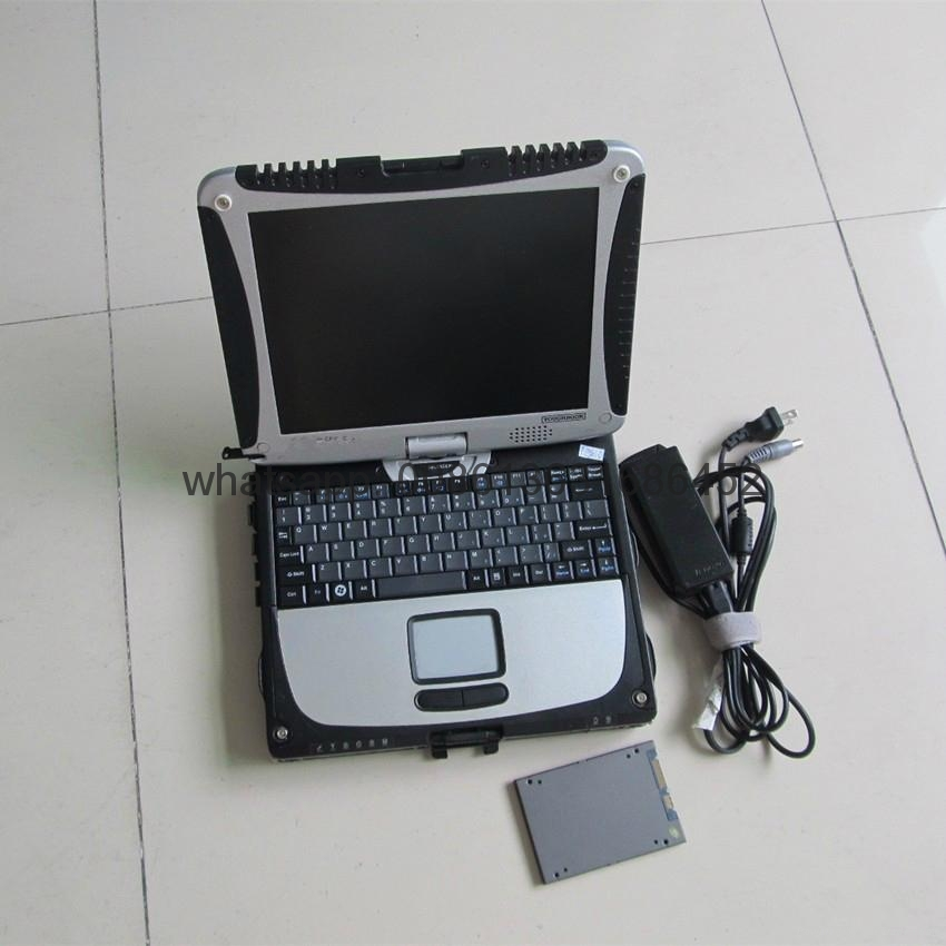 Mercedes benz mb star c5 and bmw icom next software 2in1 ssd toughbook cf19 diagnostic tool