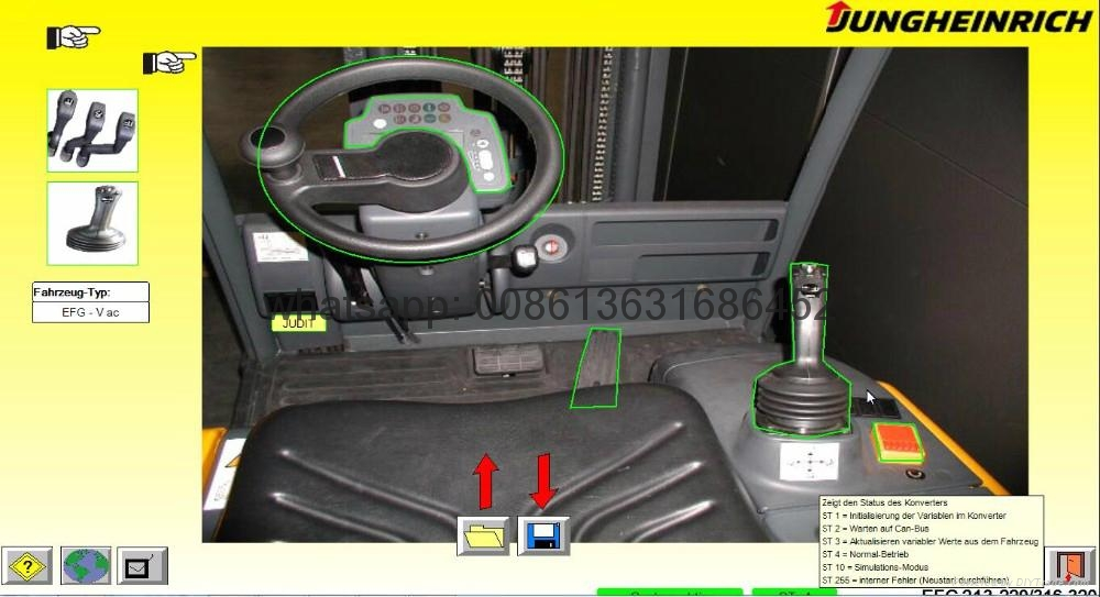 Judit Incado Box Diagnostic Kit JUDIT 4 Jungheinrich forklift machines read change parameters