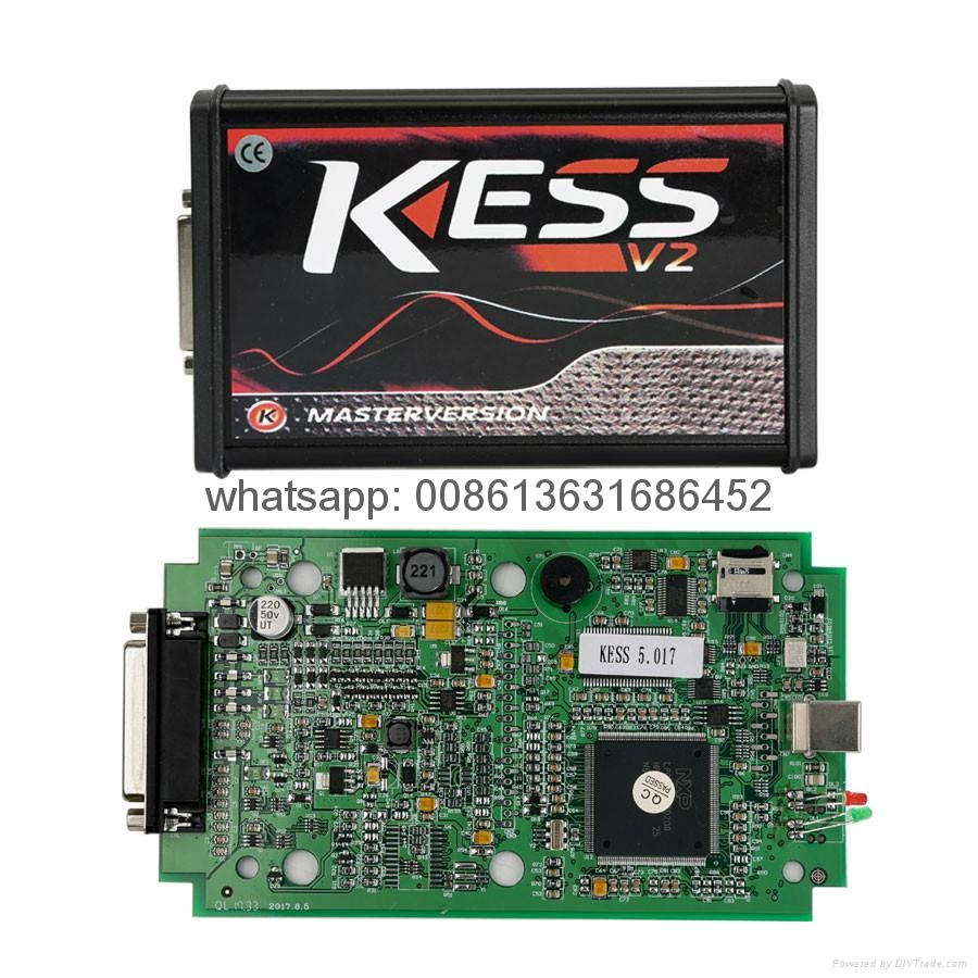 Online Version Kess V5.017 Support 140 Protocol No Token Limited with Green PC B