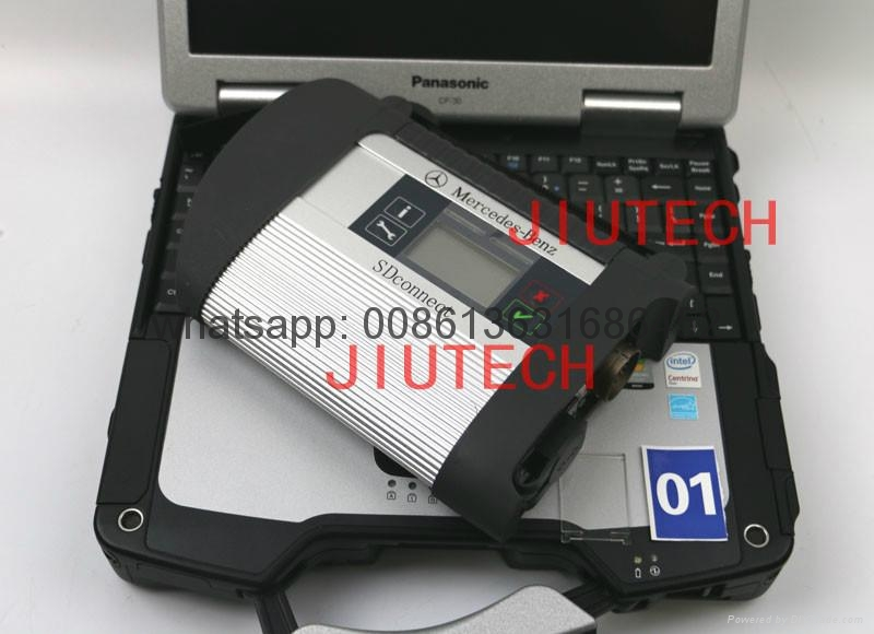 MB SD C4 Benz Truck Diagnosis Full Set With CF30 Laptop Benz Diagnostic Scanner