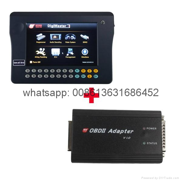 Original Yanhua Digimaster 3 Odometer Correction Master No Token Limitation Plus OBD II Adapter and Cable for Key Programming