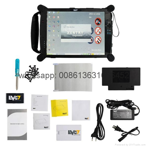 MB SD Connect C5 with Super Engineering Software DTS monaco And EVG7 Tablet