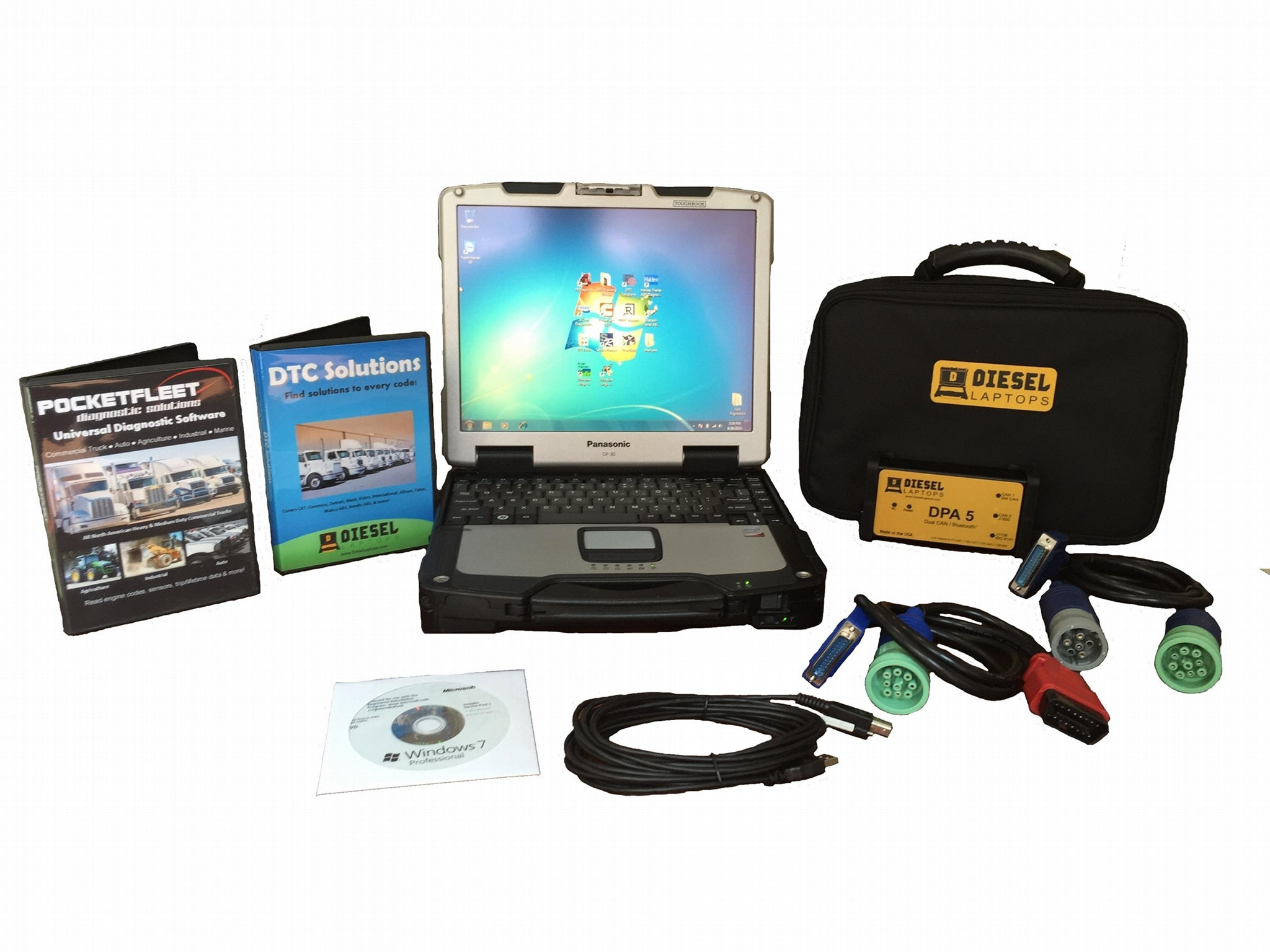 Diesel Truck Diagnostic Tool & Scanner Laptop Kit