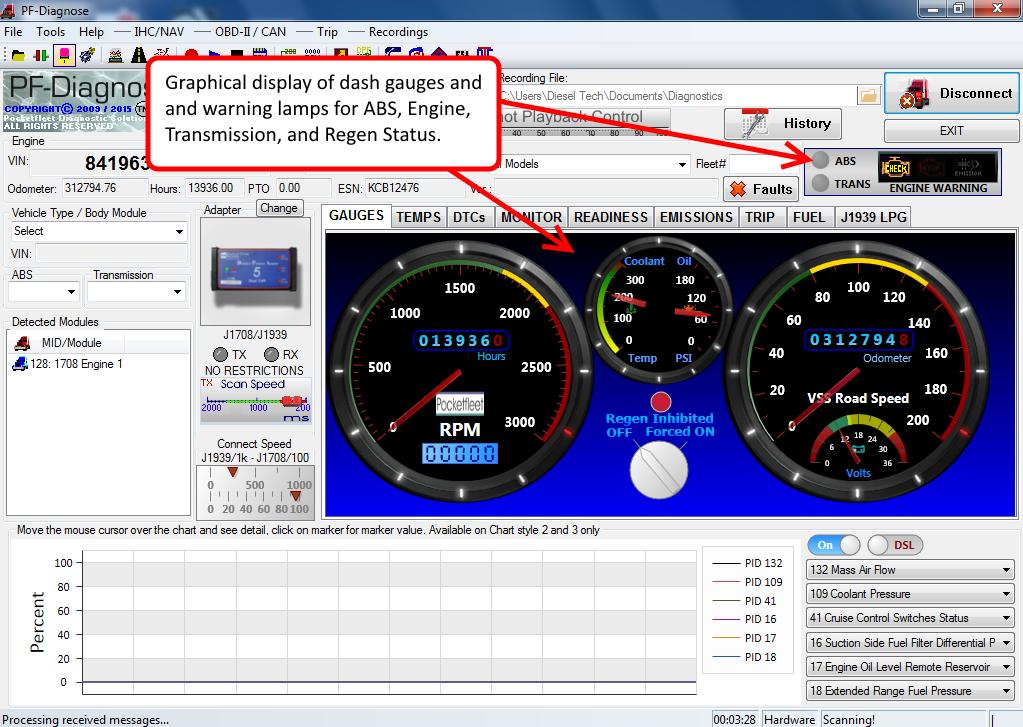 Diesel Truck Diagnostic Tool & Scanner Laptop Kit