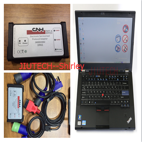 CNH EST Diagnostic Kit for new holland CASE Diagnosis Tool + t420 laptop