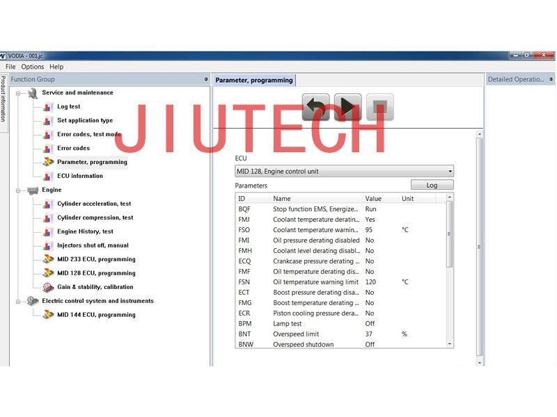 VOLVO PENTA VODIA Marine Diagnosis VODIA5 DIAGNOSTIC Kit Vocom +CF52 full set