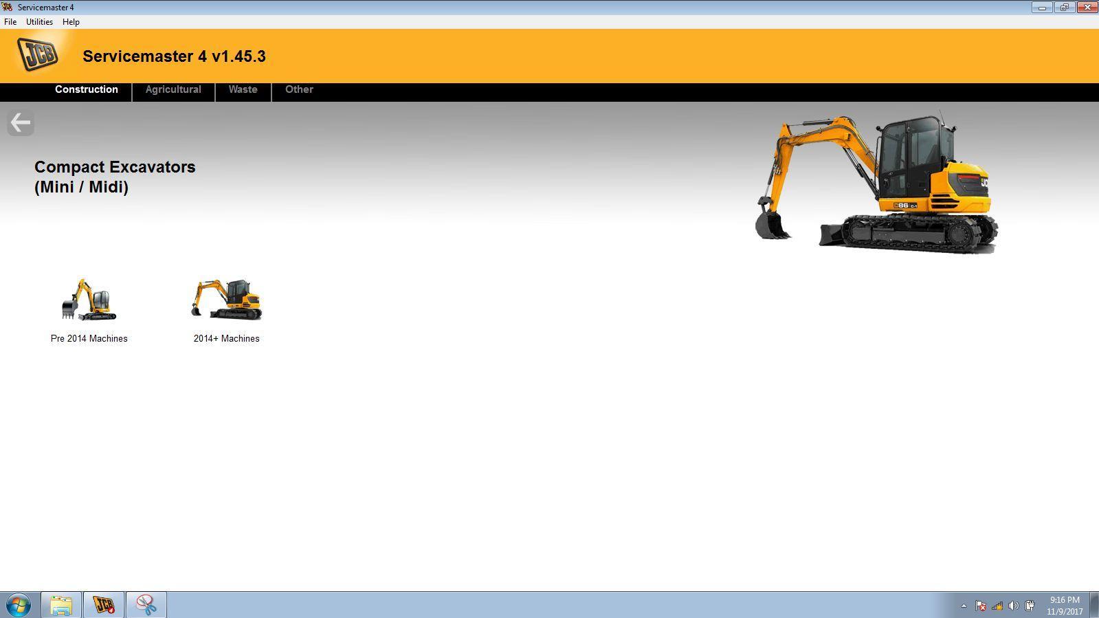 JCB Electronic Service Tool JCB Service Master Heavy Duty Diagnostic Scanner kit 6