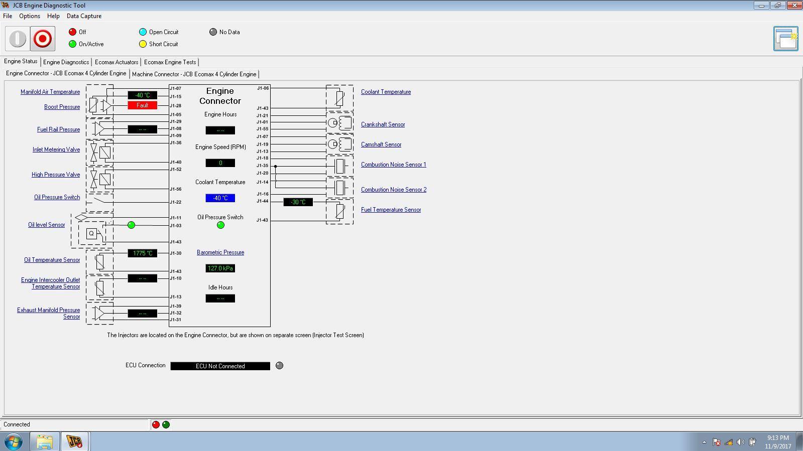 JCB Electronic Service Tool JCB Service Master Heavy Duty Diagnostic Scanner kit 7