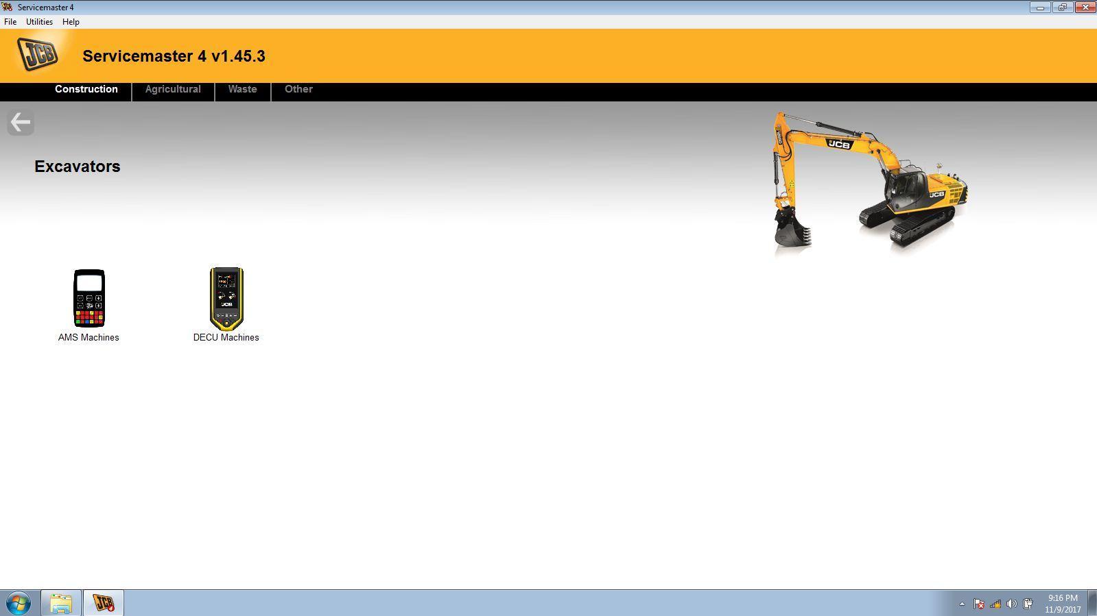 JCB Electronic Service Tool JCB Service Master Heavy Duty Diagnostic Scanner kit 8