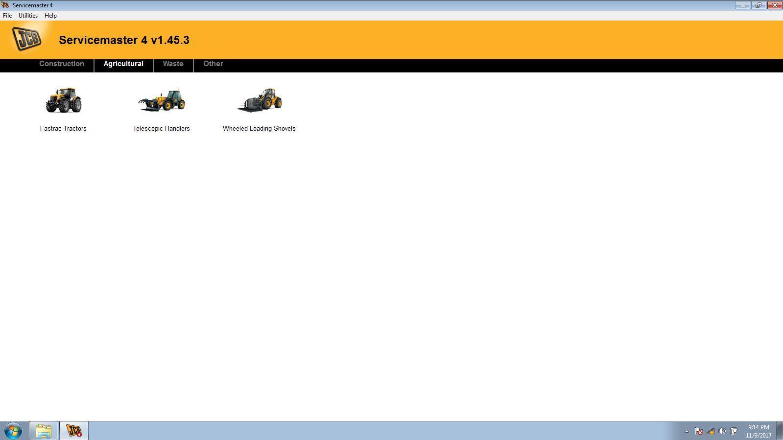 JCB Electronic Service Tool JCB Service Master Heavy Duty Diagnostic Scanner kit 11