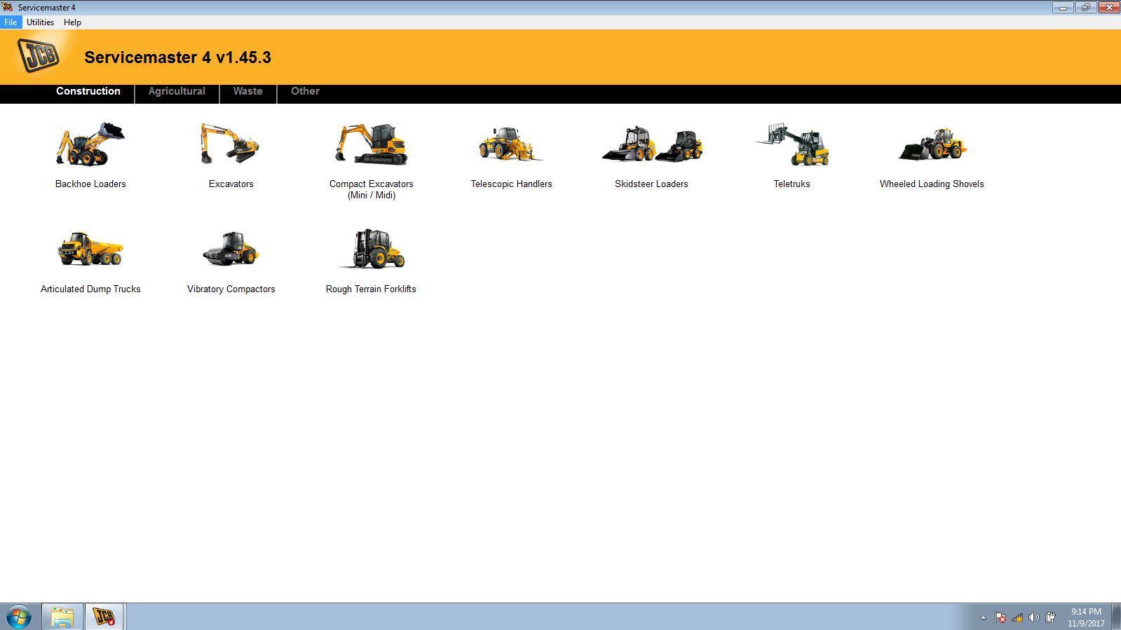 JCB Electronic Service Tool JCB Service Master Heavy Duty Diagnostic Scanner kit 12