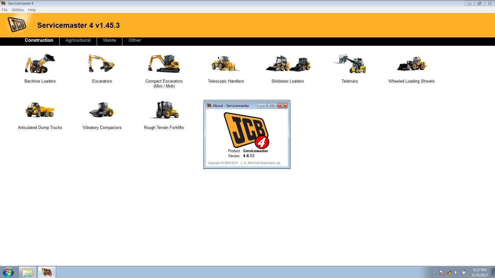 JCB Electronic Service Tool JCB Service Master Heavy Duty Diagnostic Scanner kit 13
