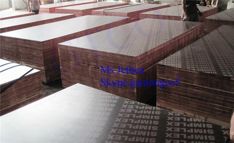 Anti slip Brown film faced shuttering plywood formwork 2