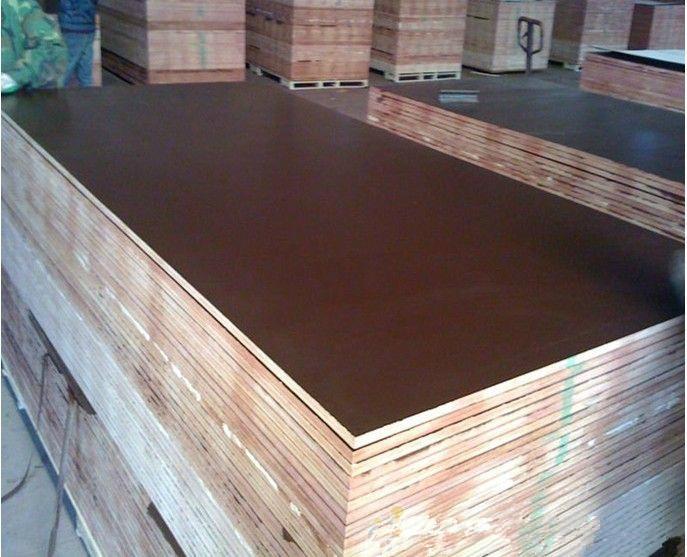 Anti slip Brown film faced shuttering plywood formwork 4