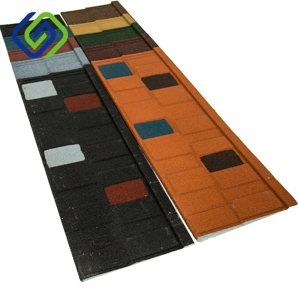colorful stone coated steel roof tile 1