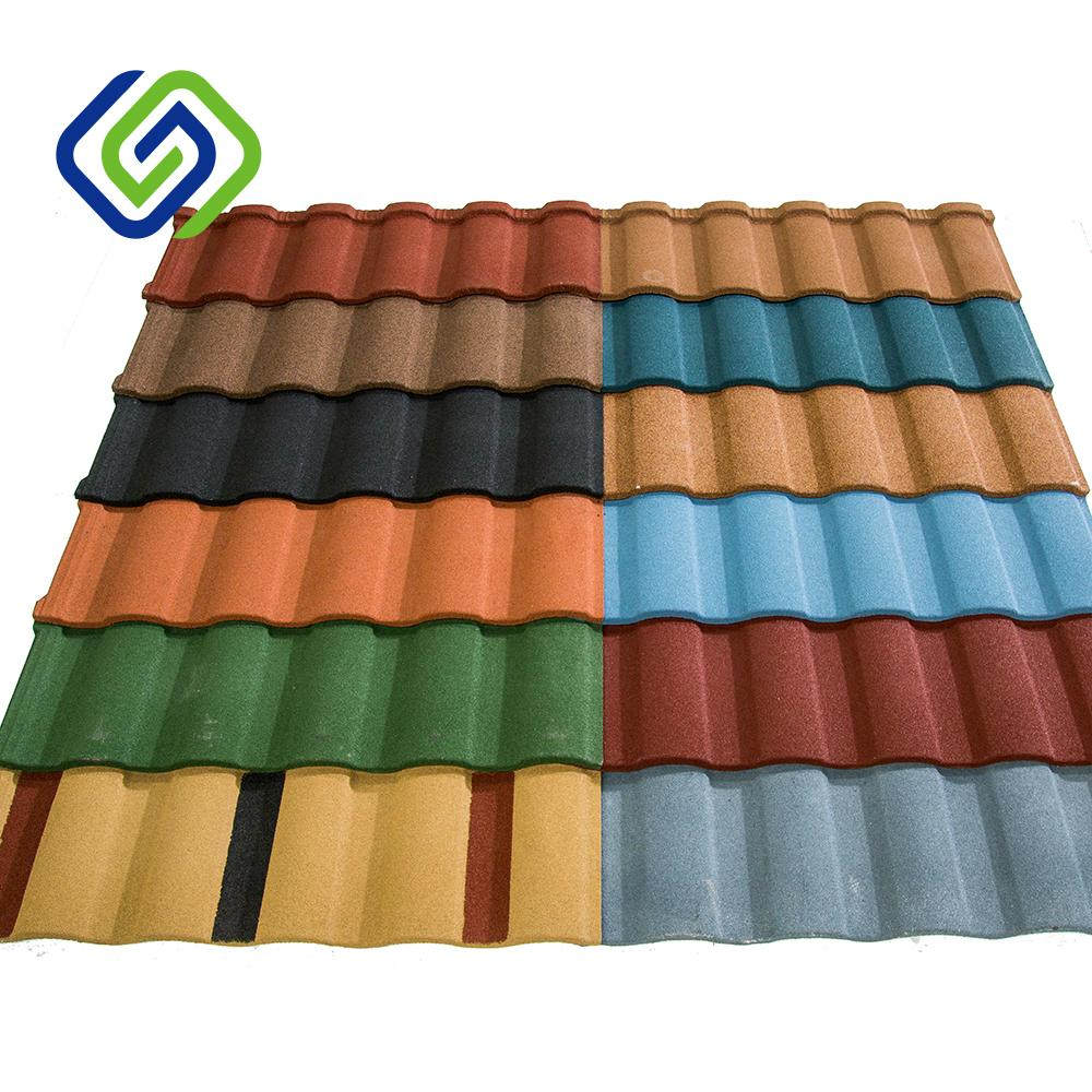 colorful stone coated steel roof tile 3