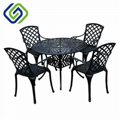 Quality cast aluminum outdoor furniture garden sets dining sets